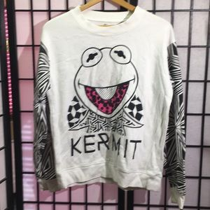 Muppets Kermit the Frog Sweatshirt Size S